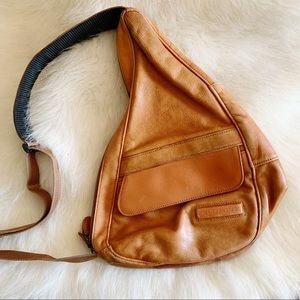 Vintage crossbody leather bag